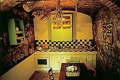 Group of Stone Houses for sale in Piemonte - Rustic style kitchen