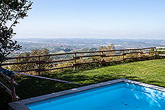 Luxury Villa for sale Piemonte Italy - Views from the pool
