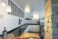 Restored Langhe Stone Farmhouse  in Piemonte - Kitchen area