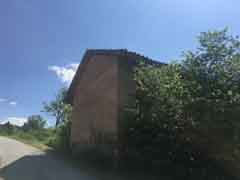 Restored House and Stone Barn For Sale in Piemonte Italy - Side view of barn