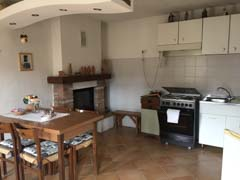 Restored House and Stone Barn For Sale in Piemonte Italy - Kitchen area