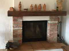 Restored House and Stone Barn For Sale in Piemonte Italy - Traditional fireplace