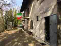 Restored House and Stone Barn For Sale in Piemonte Italy - Courtyard