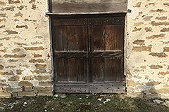 Part Restored Stone Farmhouse with Barn for restoration for sale in Piemonte - Original doors