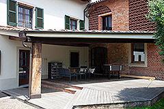 Italienisches Bauernhaus zum Verkauf im Piemont - Terrace area