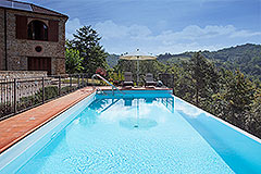 Luxury Country home for sale in Piemonte Italy - Pool area