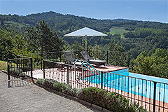Luxury Country home for sale in Piemonte Italy - Panoramic pool views