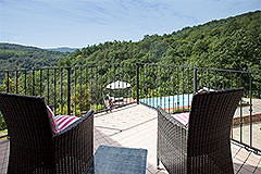 Luxury Country home for sale in Piemonte Italy - Balcony views