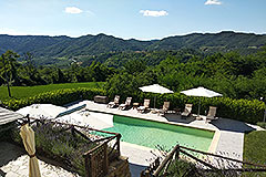 Restored Country House for sale in Piemonte - Pool area