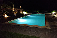 Restored Country House for sale in Piemonte - Pool at a night