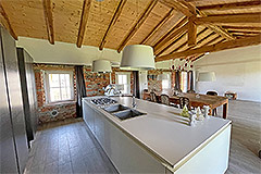 Restored Langhe Stone Farmhouse with barn for renovation - Kitchen