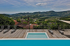 Langhe Stone Farmhouse with Infinity Swimming Pool - Pool area