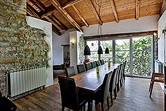 Langhe Stone Farmhouse with Infinity Swimming Pool - Dining area