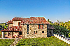 Luxury Stone House for sale in Piemonte Italy - Back view