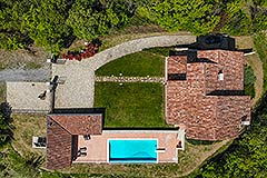 Luxury Stone House for sale in Piemonte Italy - Aerial view