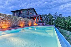 Luxury Stone House for sale in Piemonte Italy - Pool area