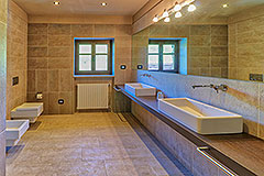 Luxury Stone House for sale in Piemonte Italy - Spacious Bathroom
