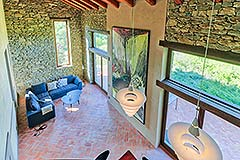 Luxury Stone House for sale in Piemonte Italy - Living area