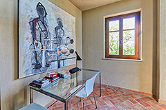 Luxury Stone House for sale in Piemonte Italy - Office area