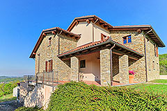 Luxury Stone House for sale in Piemonte Italy - Side view