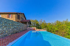 Luxury Stone House for sale in Piemonte Italy - Pool