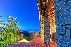 Luxury Stone House for sale in Piemonte Italy - Terrace area