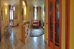 Detached villa in a residential area with large garden and swimming pool. - Living area
