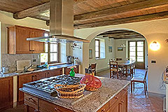 Two Restored Country Houses for sale in Piemonte - Kitchen area
