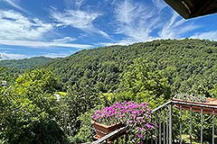 Two Restored Country Houses for sale in Piemonte - Balcony views