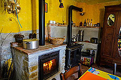 Two Country Houses for sale in the Langhe Hills - Rustic fireplace