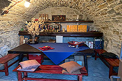 Two Country Houses for sale in the Langhe Hills - Wine cantina